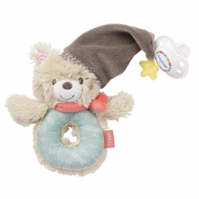 Fehn 060164 ring graspy toy with pacifier attachment bear Bruno