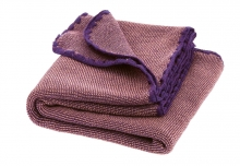 Disana Merino wool plaid Melange violett-rose 100x80cm