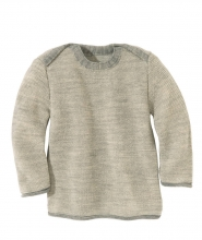 Disana Melange-Pullover 62/68 grau-natur