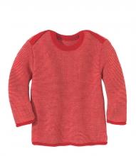 Disana Melange-Pullover 62/68 rot-rose