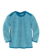 Disana Melange-Pullover 50/56 blau-natur