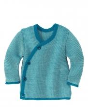 Disana Melange-Jacke 62/68 blau-natur
