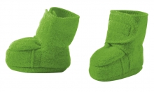 Disana boiled wool booties size 1 green