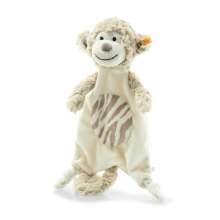 Steiff 241888 Bingo monkey comforter 25 light brown/ creme