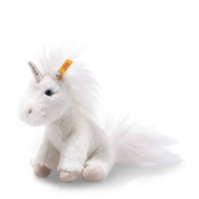 Steiff 087745 Unicorn Floppy 18 white