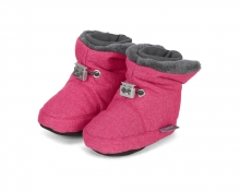 Sterntaler 5101831 baby-bootees with cord-stopper 17/18 magenta melange