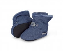 Sterntaler 5101831 baby-bootees with cord-stopper 21/22 blue melange
