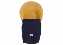 Kaiser 6533522 Emma Organic Cotton lambskin footmuff for carrycots and child seats navy