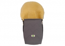 Kaiser Emma Organic Cotton lambskin footmuff for carrycots and child seats anthracite