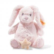 Steiff 241772 Belly rabbit music box 26cm pink