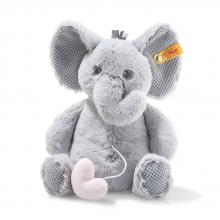 Steiff 241765 Ellie Elefant Spieluhr 26cm hellgrau
