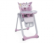 Chicco Highchair Polly 2 Start - 4 wheels Miss Pink
