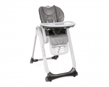 Chicco Highchair Polly 2 Start - 4 wheels Anthracite