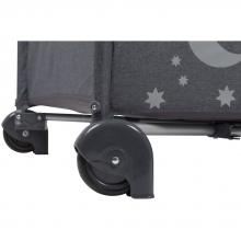 BabyGo travel cot MoonStars grey