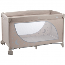BabyGo travel cot MoonStars beige