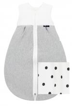 Alvi Kugelschlafsack Thermo little Dots grey 80cm