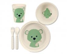 Sterntaler Bamboo Tableware Set Baylee green