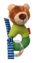 Sigikid 42179 Grab and Rattle Bear Red Stars