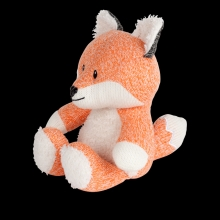 Flow Cuddly Toy with Music Box Robin the Fox orange