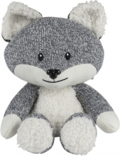 Flow Cuddly Toy with Music Box Robin the Fox grey