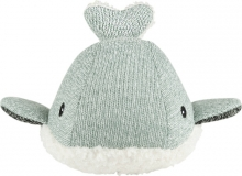 Flow Cuddly Toy with Music Box Moby the Whale green