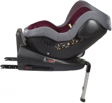 BabyGo Child Seat Iso360 red 0-18kg (Group 0/1)