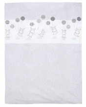 Alvi Microfiber baby blanket Hippo silver 75x100