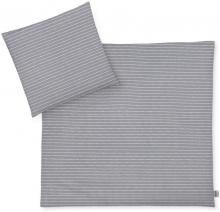 Zöllner Jersey Bedding Grey Stripes 80x80 cm