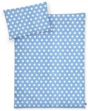 Zöllner Bettwäsche Sterne blau 100x135