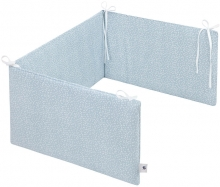 Zöllner Cot Bumper Comfort Soft 180cm Tiny Squares Greenery
