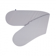 Zöllner Nursing Pillow Jersey Grey Stripes 190cm
