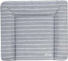Zöllner Wickelauflage Softy Folie Grey Stripes 75x85