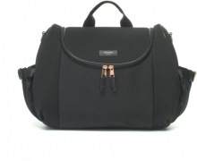 Storksak Changing Bag Poppy Luxe black scuba