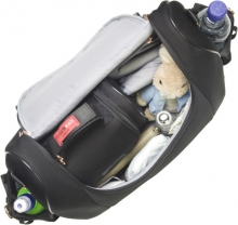 Storksak Changing Bag Poppy Luxe black scuba