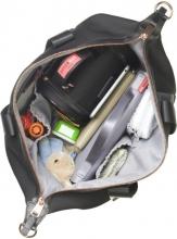 Storksak Changing Bag Stevie Luxe black scuba