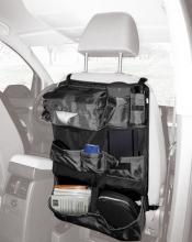 Kaufmann back side bag for car seats black/silver