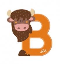 Sevi wooden letter B bison