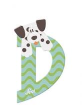 Sevi wooden letter D dalmatian