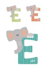 Sevi wooden letter E elephant