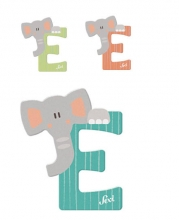 Sevi Holzbuchstabe Buchstabe E Elefant