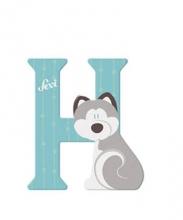 Sevi wooden letter H husky