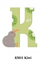 Sevi wooden letter K kiwi