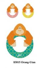 Sevi wooden letter O orangutan