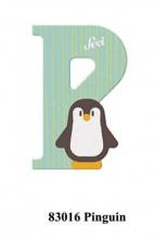 Sevi wooden letter P penguin