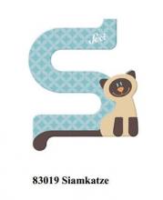 Sevi wooden letter S Siamese cat