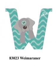 Sevi wooden letter W Weimaraner