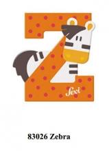 Sevi Holzbuchstabe Buchstabe Z Zebra