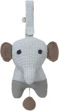 FRANCK & FISCHER Musical toy elephant Hella grey