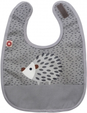 FRANCK & FISCHER Bib hedgehog grey