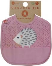 FRANCK & FISCHER Bib hedgehog pink